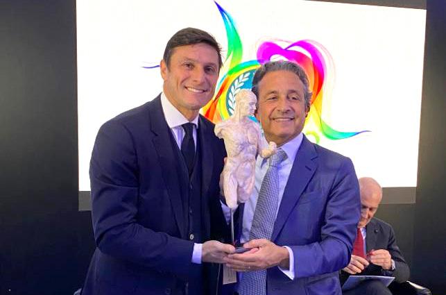 """Javier Zanetti received the """"Mecenate dello Sport"""" 2019"""